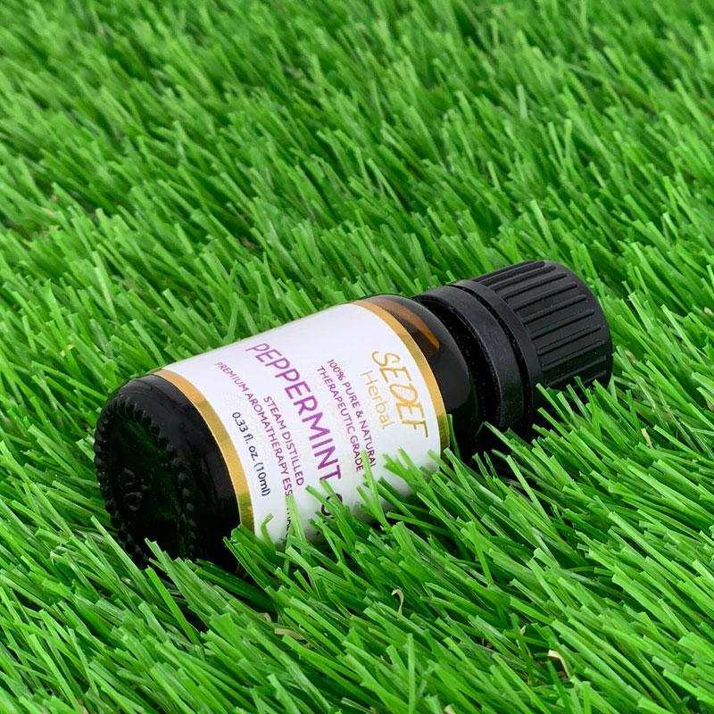 Peppermint Oil, 100% Pure & Natural Mentha Piperita Oil, Therapeutic-Grade Aromatherapy Essential Oil, 10ml (0.33oz)